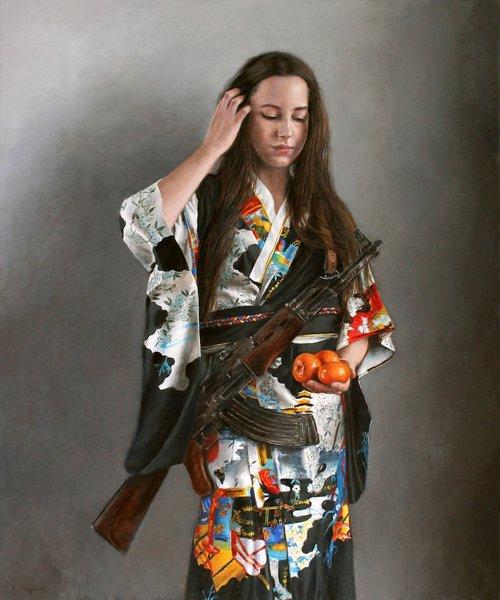 kimono  rifle  gun
