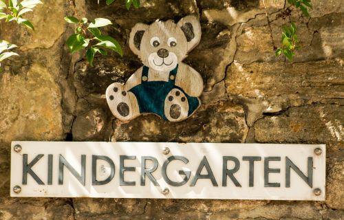 kindergarten nursery sign