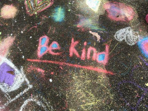 kindness chalk handwritten