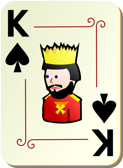 king spades playing cards
