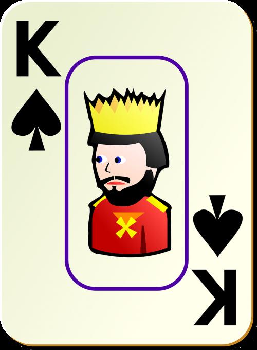 king spades card