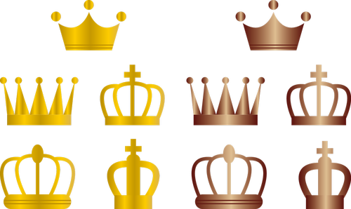 king crown  gold crown  copper crown