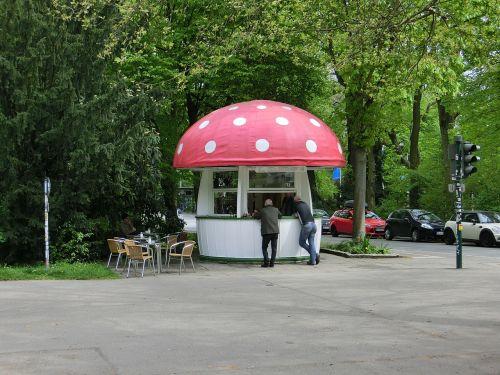 kiosk mushroom building