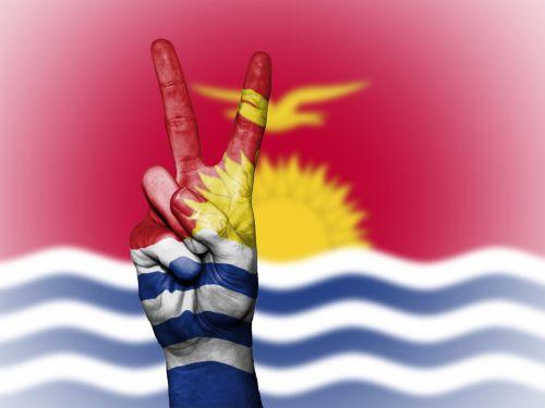 kiribati peace hand