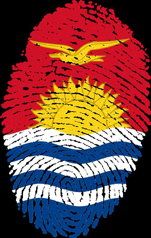 kiribati flag fingerprint