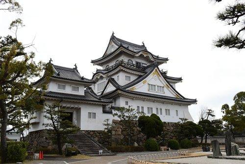 kishiwada castle  japan  japanese castle