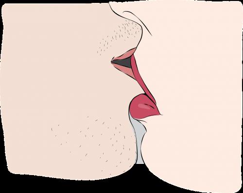 kiss passion closeup
