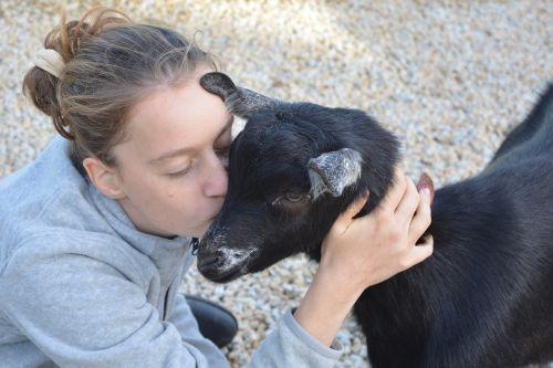 kiss girl young woman