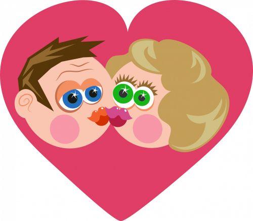 Kissing Couple Clip Art