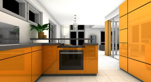kitchen dining room rendering