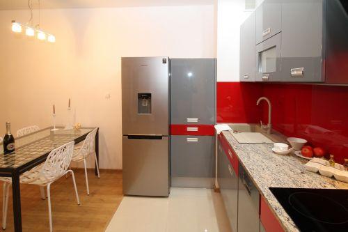 kitchen kitchenette apartment