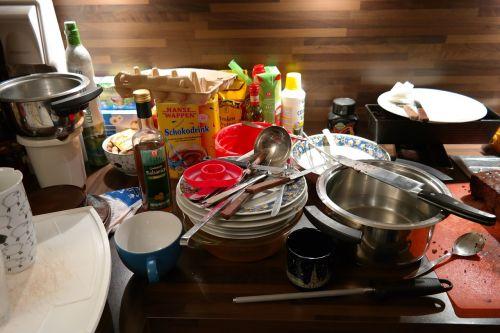 kitchen a mess unclean