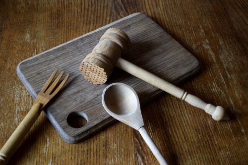 kitchen utensils wooden