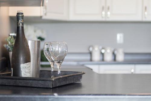 kitchen wine staging