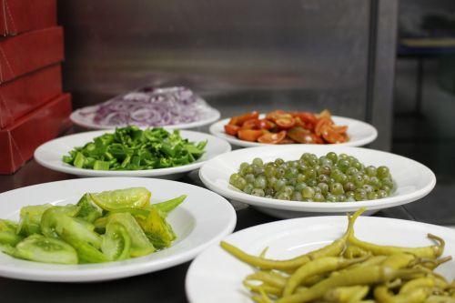 kitchen ingredients plate