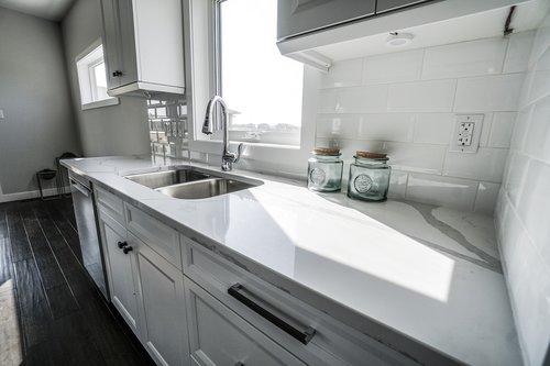 kitchen  white kitchen  counter top