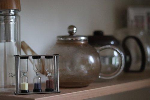 kitchen  hourglass  teapot