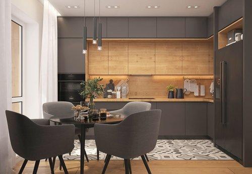 kitchen  loft  strict style