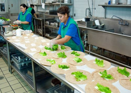 virtuvė,pagalba,darbuotojas,Paruošimas,rengia,stalas,nuskandinti,interjeras,instituciniai,darbuotojai