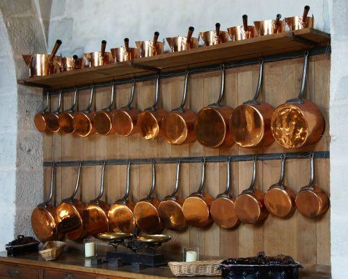 kitchen copper pots