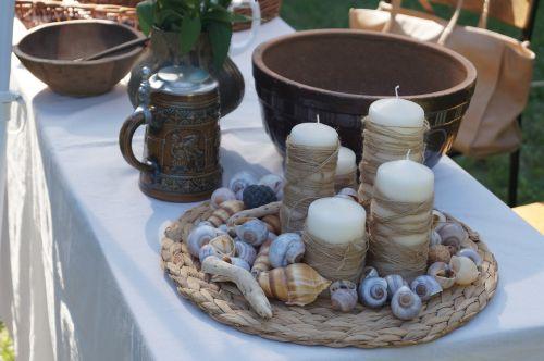 kitchen utensils nature shells