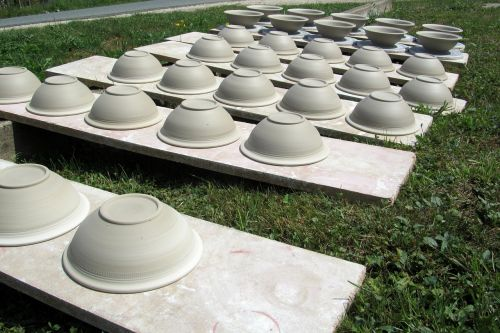 kitchen utensils clay pots wither