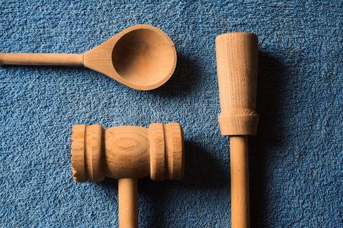 kitchen utensils wooden utensils blue
