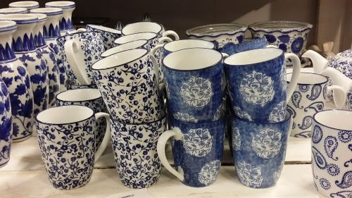 kitchenware and tableware blue shop