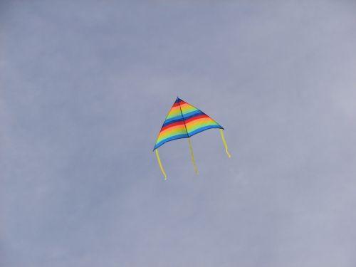 kite clouds sky