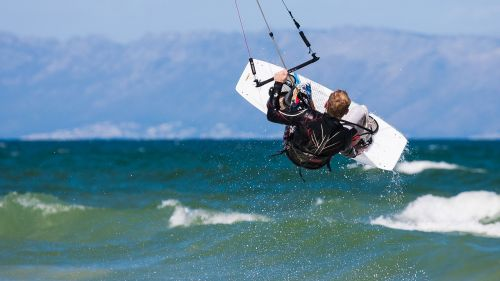 kite boarder wave jumping wallpaper desktop background