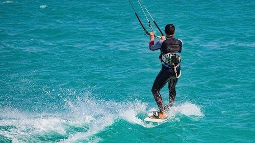 kite surf  surfer  surfing