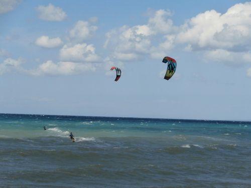 kite surf sea cyprus