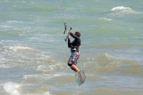 kite surfer kite surfing surfer