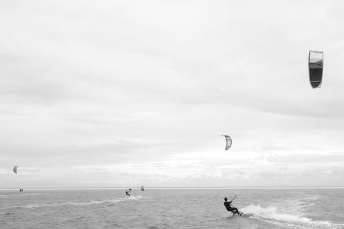 kite surfing  kitesurfer  north sea
