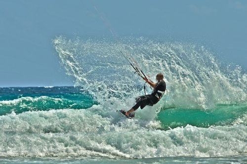 kite surfing water sports dynamic