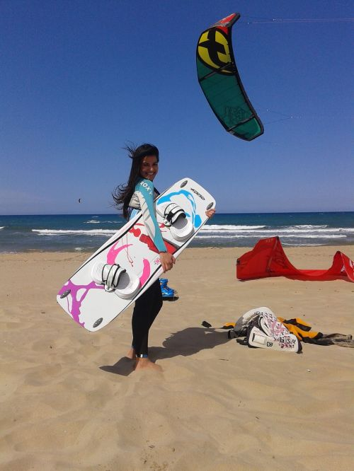 kiteboarding girl acid