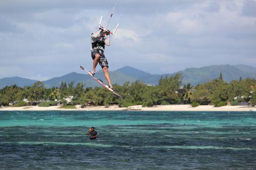 kitesurfer kite surfing kite