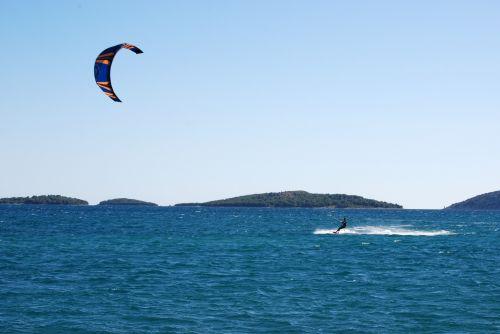 Kite Surfer At Adriatic Sea