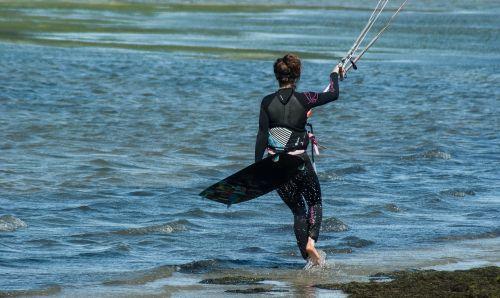 kitesurfing combination sport