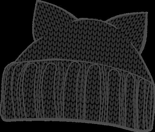 kitten hat knit hat winter hat