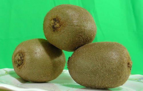 kiwi fruit green background
