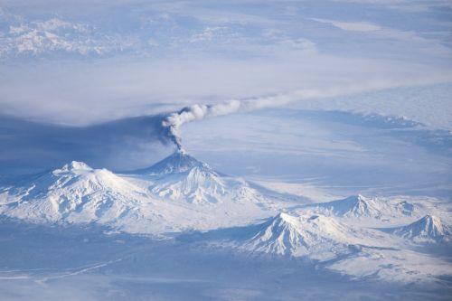 kliuchevskoi volcano viewed from space international space station