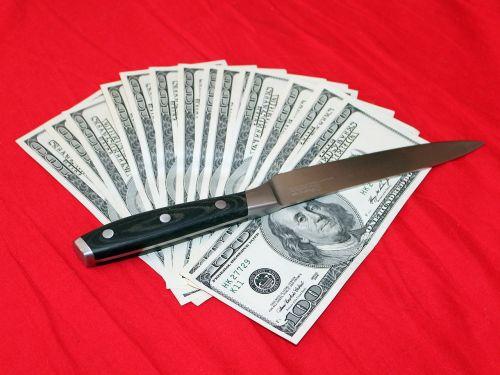 knife money dollars