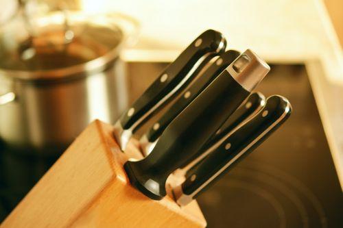 knife block knife kitchen