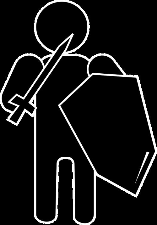 knight warrior armed