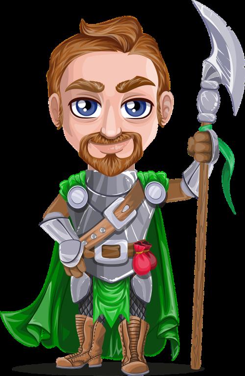 knight armor beard