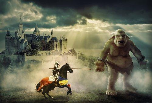knight  troll  fantasy