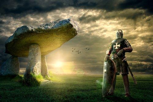 knight  dolmen  lanyon quoit