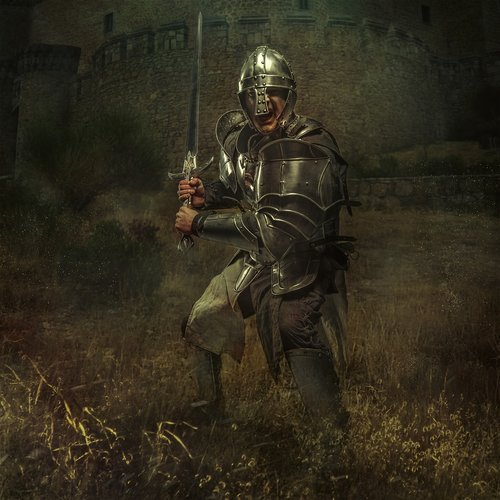 knight  castle  middle ages