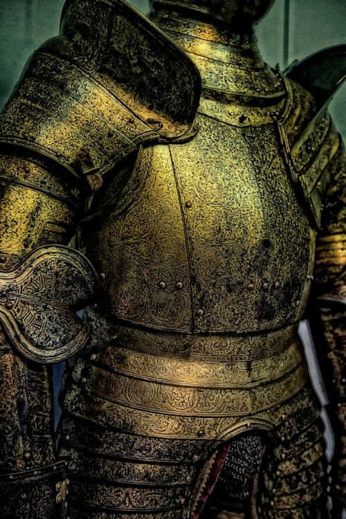 knights armor suit of armor metal